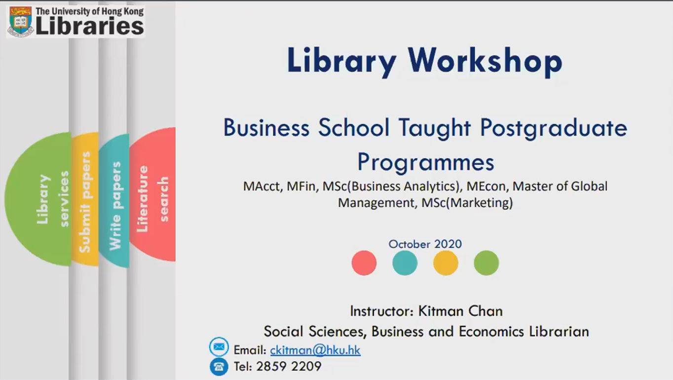 Virtual Library Workshop