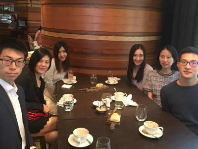 Mentor: Cindy CHENG (Second from the left)  Mentee: Kelly IP (Third from the right)