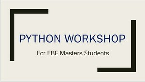 Python Workshop (Online Training)