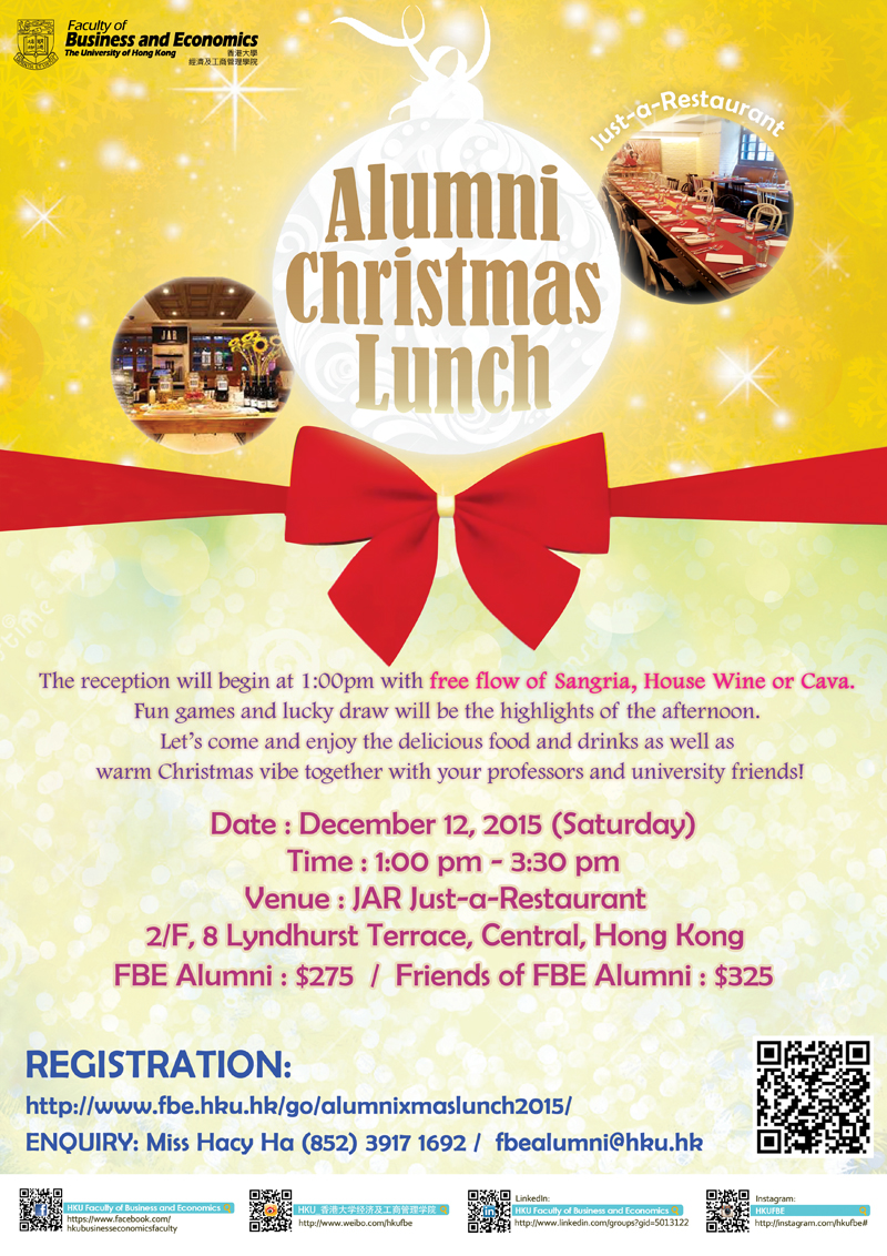 Alumni Xmas Lunch 2015