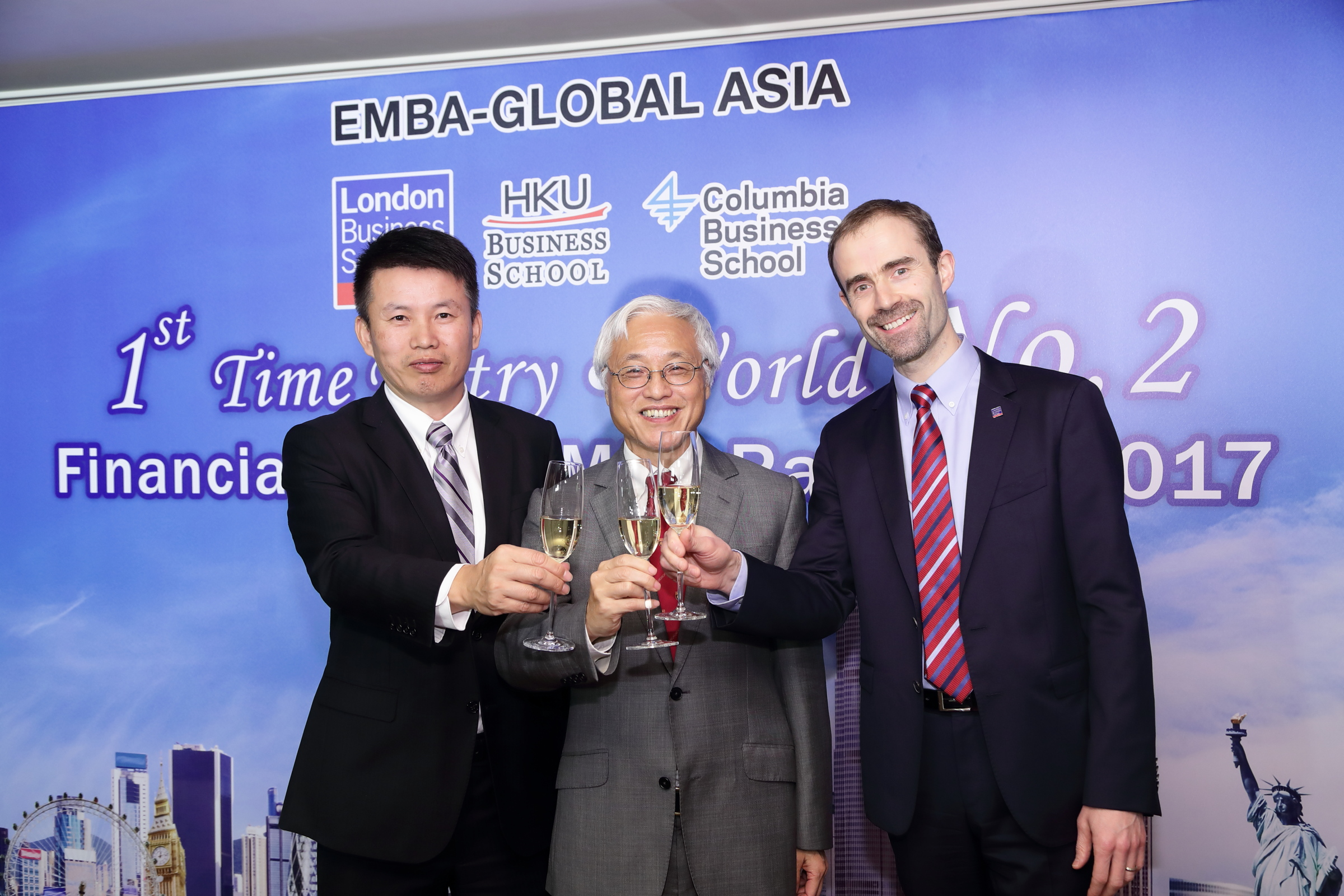 EMBA-Global Asia programme awarded second in the World in its first ever ranking by Financial Times