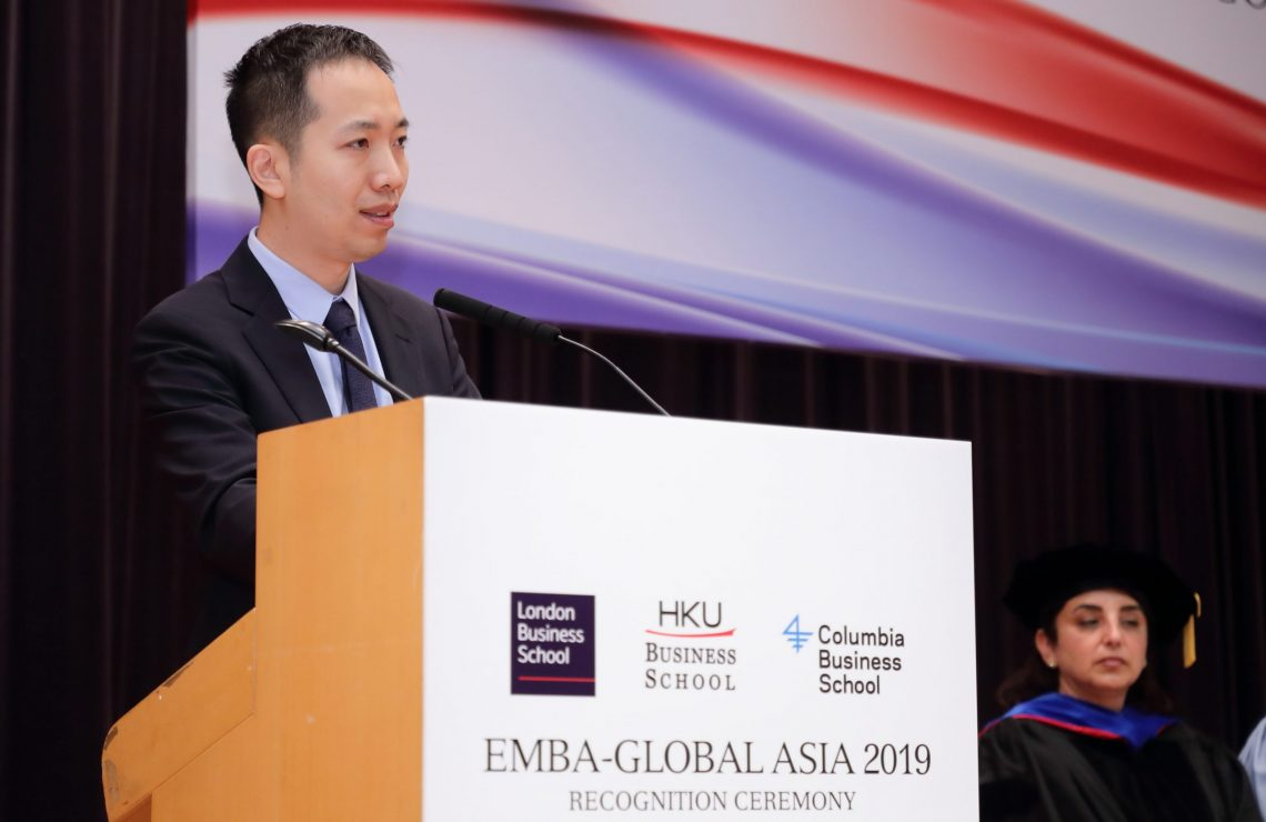 """""""Control your greed,"""" counsels Xiaomi Co-founder and Senior Vice President at EMBA-Global Asia 2019 Recognition Ceremony"""