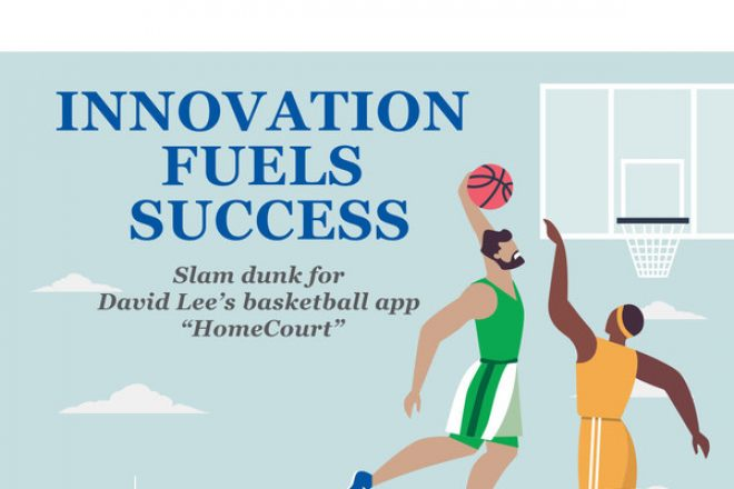 "INNOVATION FUELS SUCCESS: Slam dunk for David Lee's basketball app ""HomeCourt"""